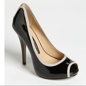 French Connection Black and Nude Deana Pump Heel